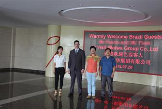 Brazil customer visit Wolwa Group